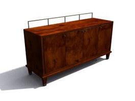 Antique Furniture Wooden Kitchen cabinet 3d model preview