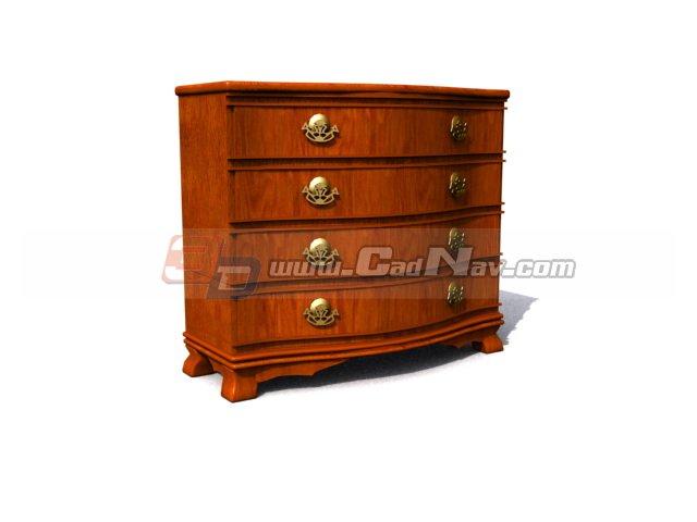 Antique Furniture Living Room Cabinet 3d rendering