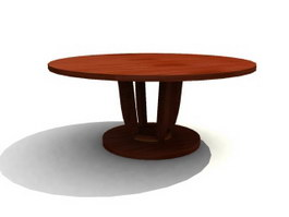 Restaurant Furniture wood banquet table 3d model preview