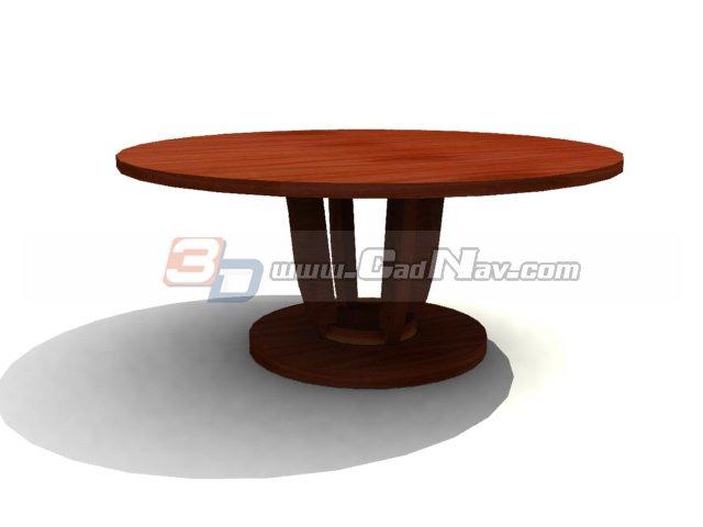 Restaurant Furniture wood banquet table 3d rendering