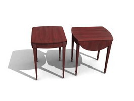 Adjustable Wooden Dining stool 3d model preview