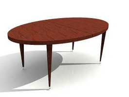 Oval Wooden Dining Table 3d preview
