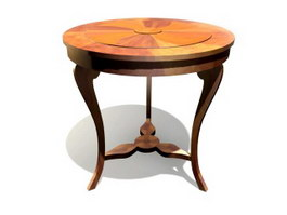 Antique Furniture Round Dining Table 3d preview
