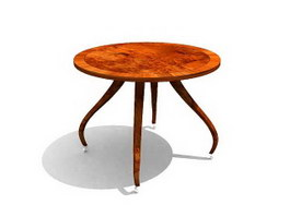 Dining Room Furniture Antique Table 3d model preview