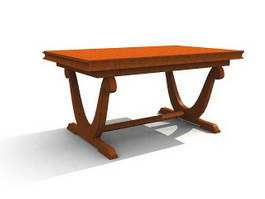 Antique Furniture Solid wood Coffee Table 3d model preview
