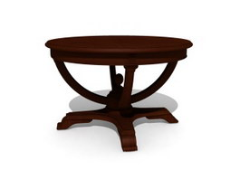 Antique Furniture Parlour Coffee table 3d model preview