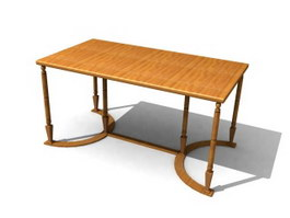Wood Antique Sofa Table 3d preview