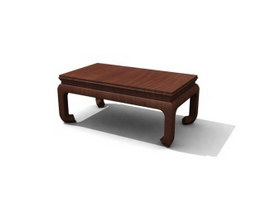 Chinese antique tea table 3d preview