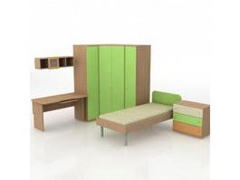 Children Room Furniture Sets 3d model preview