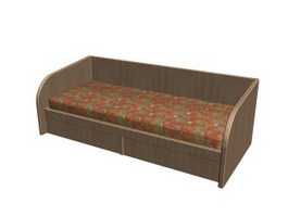 Kids chaise lounge 3d model preview