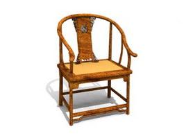 Antique furniture armchair 3d model preview