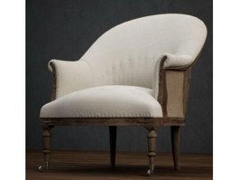 Home Furniture Fabric Armchair 3d preview