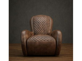 Leather Lounge Chair Sofa 3d preview
