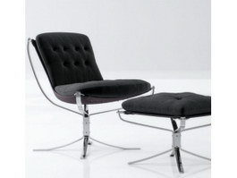 Eames chair and ottoman 3d preview