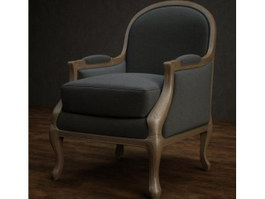 Fabric leisure armchair 3d model preview