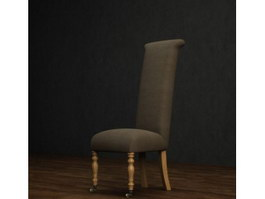 High back dining chair 3d preview