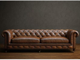 Living Room chesterfield loveseat 3d preview