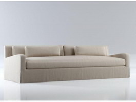 Modern fabric sofa 3d model preview