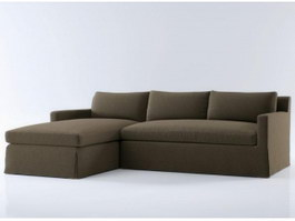 Fabric sectional sofa 3d preview