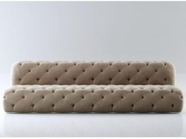 Fabric Chesterfield Sofa 3d preview