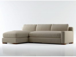 Sectional Couch fabric corner sofa 3d model preview
