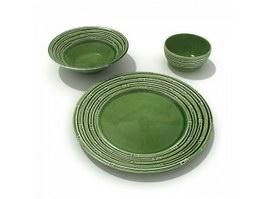 Ceramic dinner plates 3d model preview