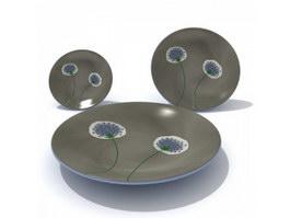 Printed Ceramic Plates 3d model preview