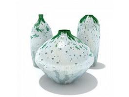 Ceramic Water Bottles 3d model preview