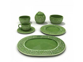 Ceramic Dinnerware Sets Bowls and Plates 3d model preview
