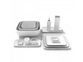 Bone China Ceramic Dinnerware Sets 3d preview