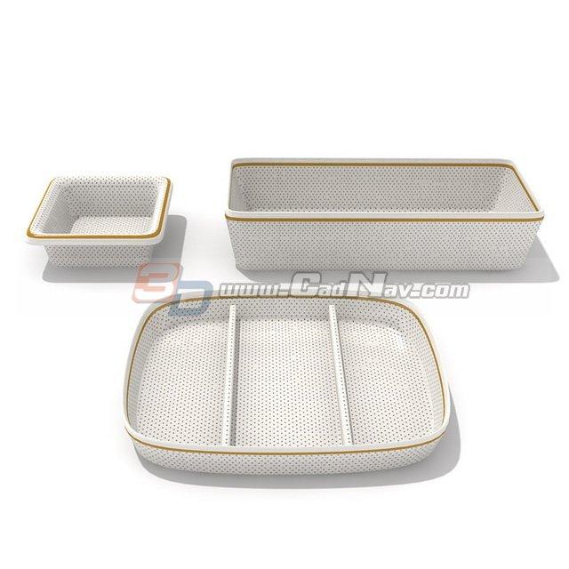 Melamine Dinner Plates 3d rendering