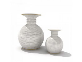 Vintage terracotta water pots 3d preview