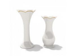 Home Decor pottery flower vase 3d model preview