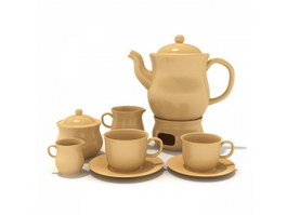 Terracotta Drinkware Coffee Set 3d preview