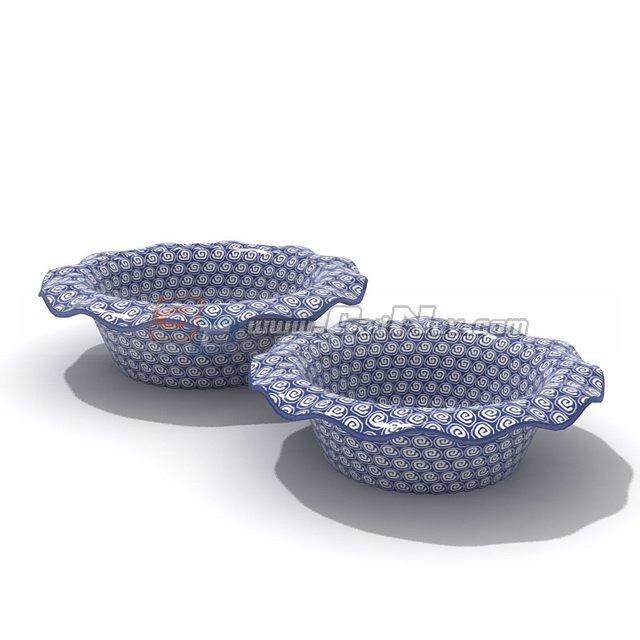 Ceramic Fruit Plate 3d rendering