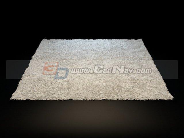 Small bathroom rug 3d rendering