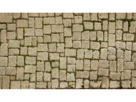 Old brick floor texture