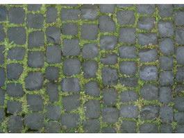Blue brick flies floor texture