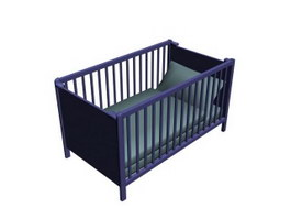 Plastic baby crib 3d preview