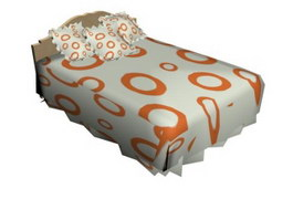 Colorful children bed 3d model preview