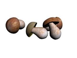 Edible mushrooms 3d preview
