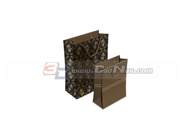 Paper shopping bag 3d rendering
