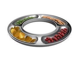 Snacks platter 3d model preview