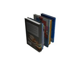 Books collection 3d preview