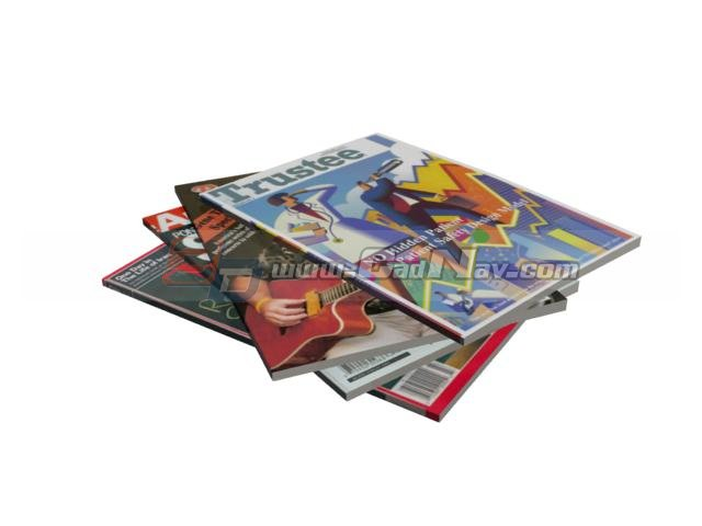 Books and magazines 3d rendering