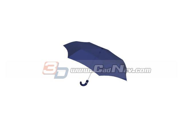 Ladys folding umbrella 3d rendering