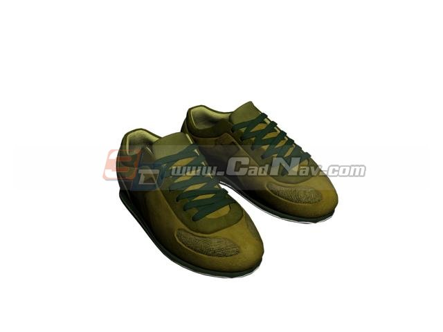 Men's sports trainers shoe 3d rendering