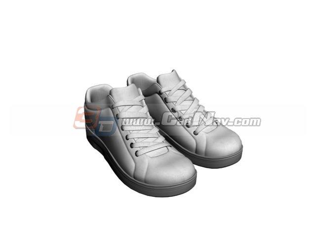 Men hiking trail shoe 3d rendering
