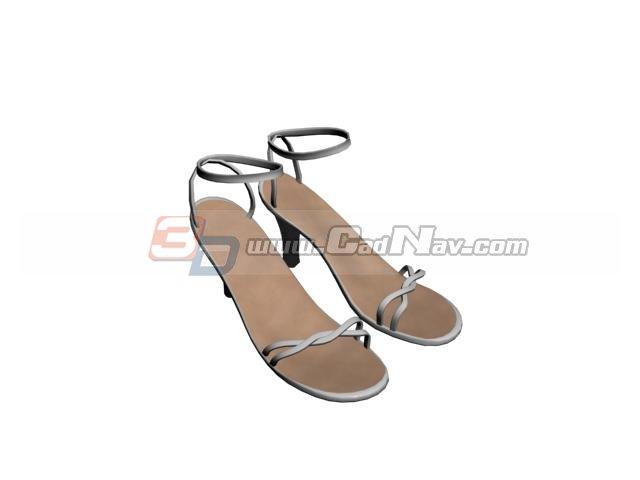 Women high heel sandals 3d rendering