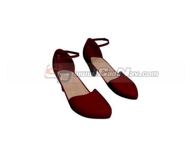 High heel women fashion sandals 3d rendering